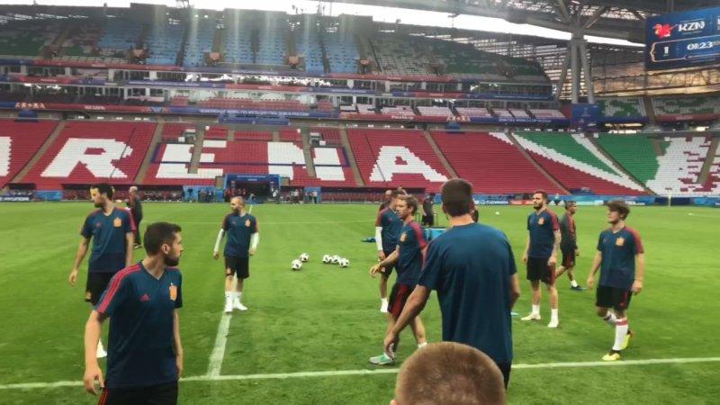تمرینات تیم ملی اسپانیا در کازان آرنا (اختصاصی)