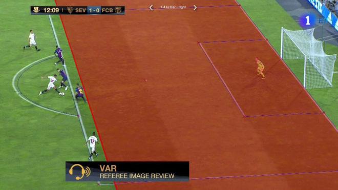اولین استفاده رسمی از VAR در اسپانیا (عکس)