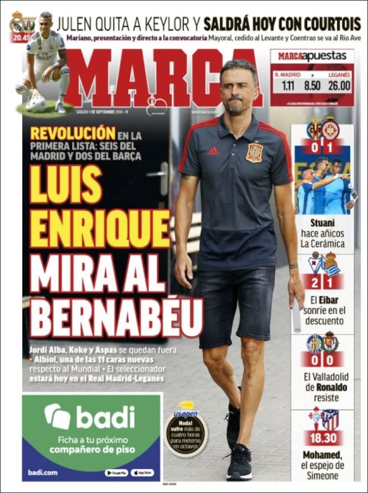 موضع منفی رسانه های بارسلونا علیه انریکه (عکس)