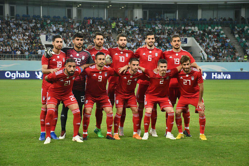 Team Melli Against Uzbekistan