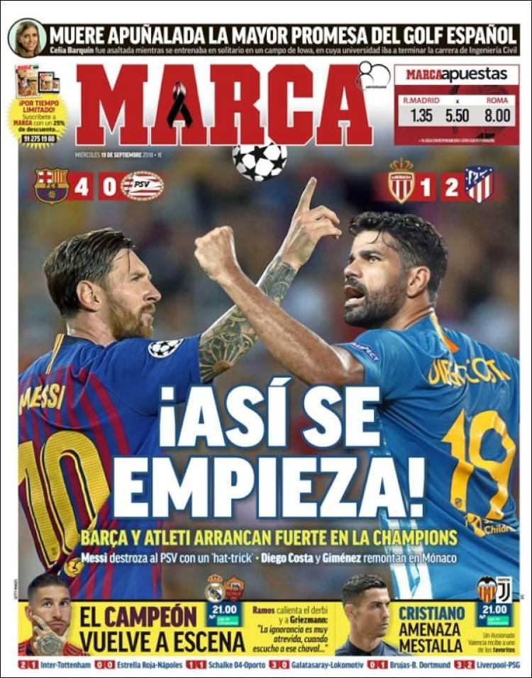 روزنامه های اسپانیا: درخشش چشمنواز مسی (عکس)