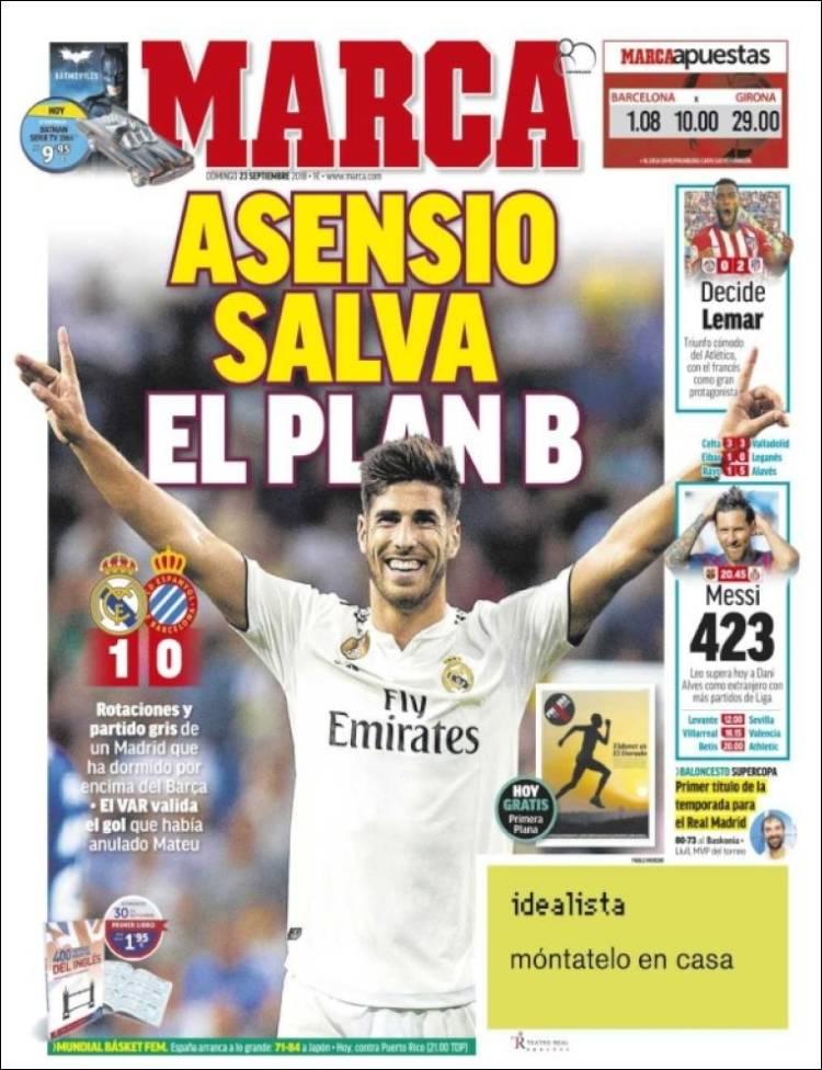 نشریات ورزشی اسپانیا؛ آسنسیو و VAR (عکس)