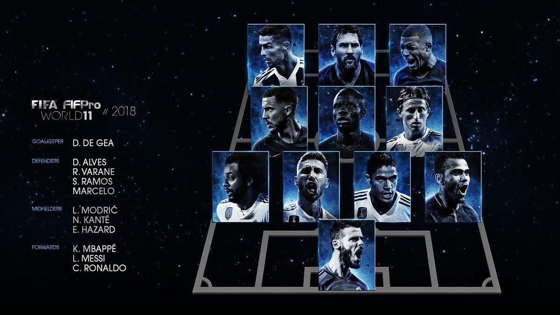 تیم منتخب سال فیفا معرفی شد (عکس)