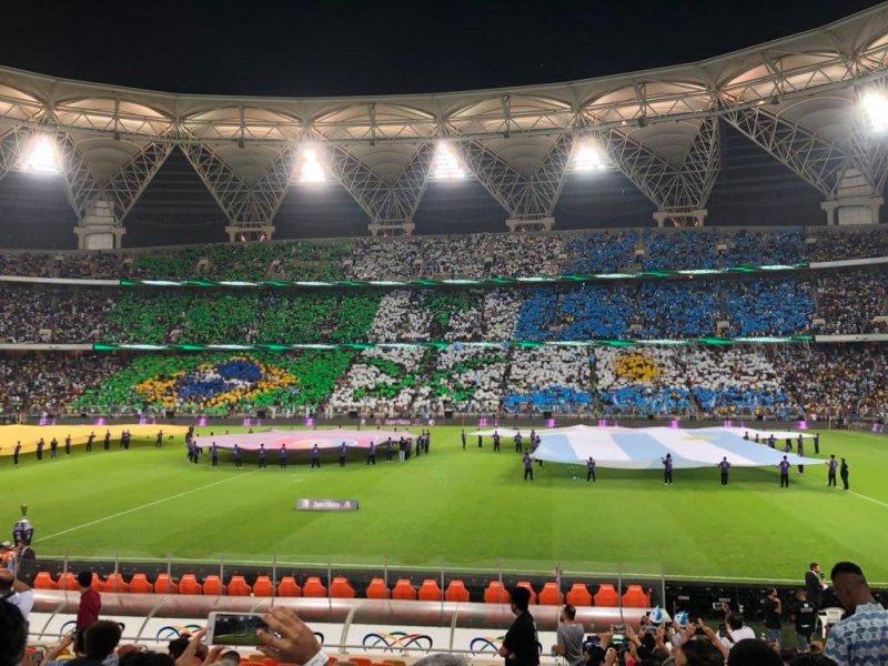 استقبال ویژه سعودیها از برزیل - آرژانتین (عکس)