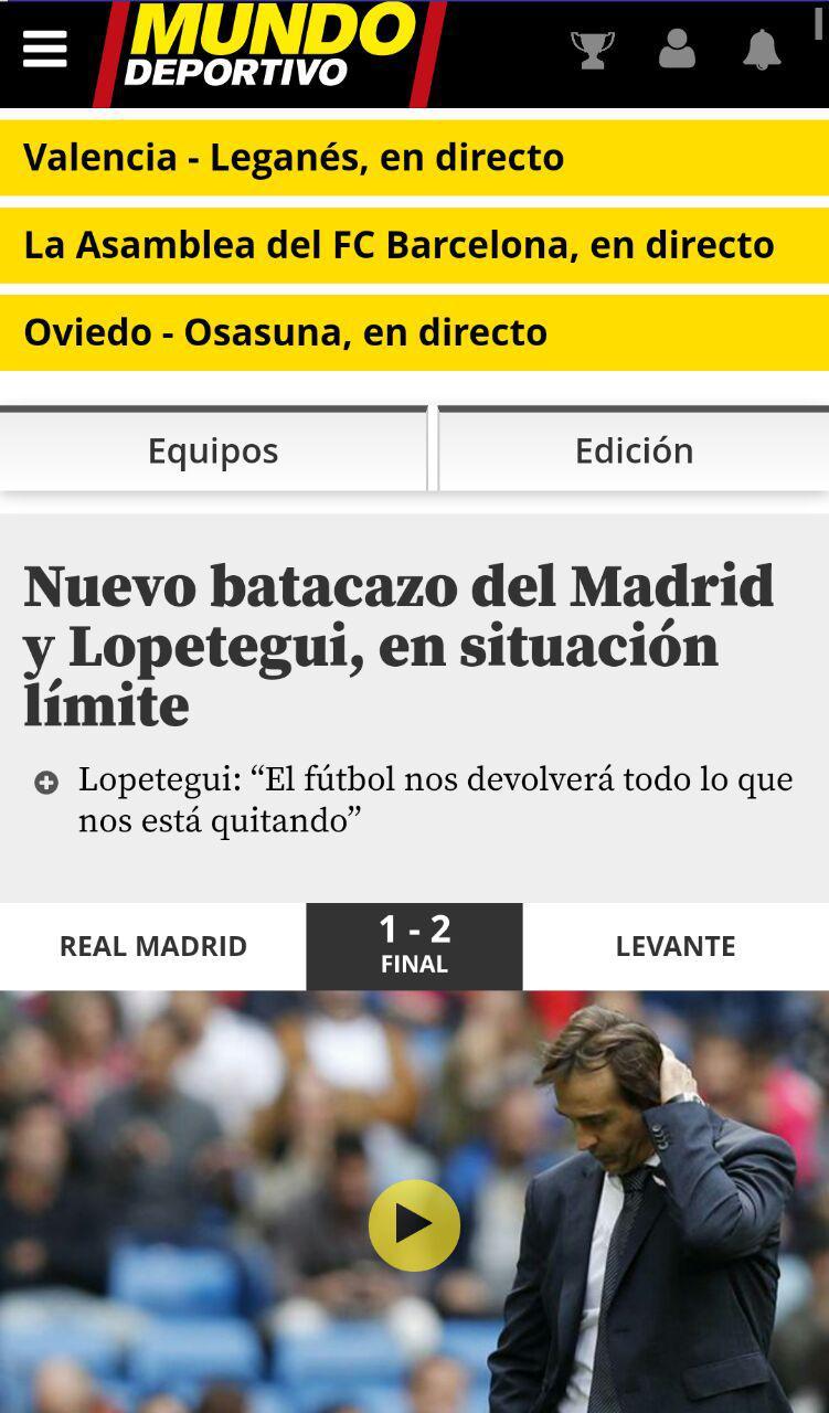 بازتاب شکست رئال در رسانه های بارسلونا (عکس)