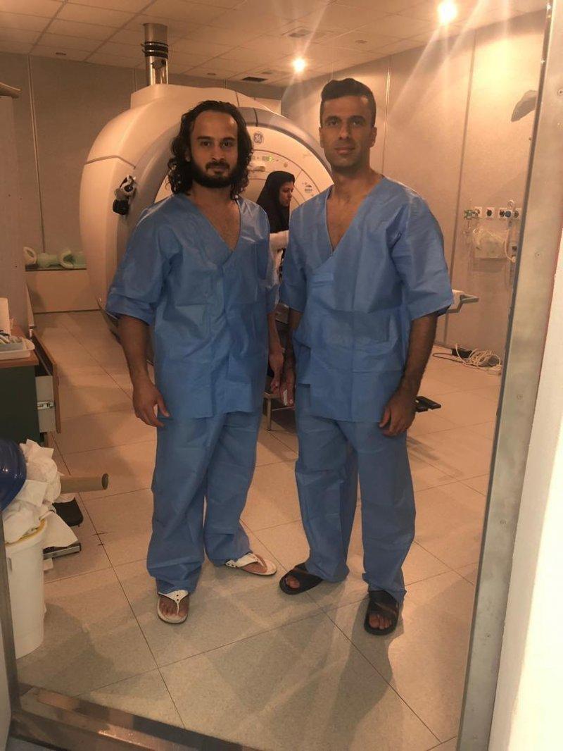 ملی پوشان ایرانی در بیمارستان ایرانیان دبی (عکس)