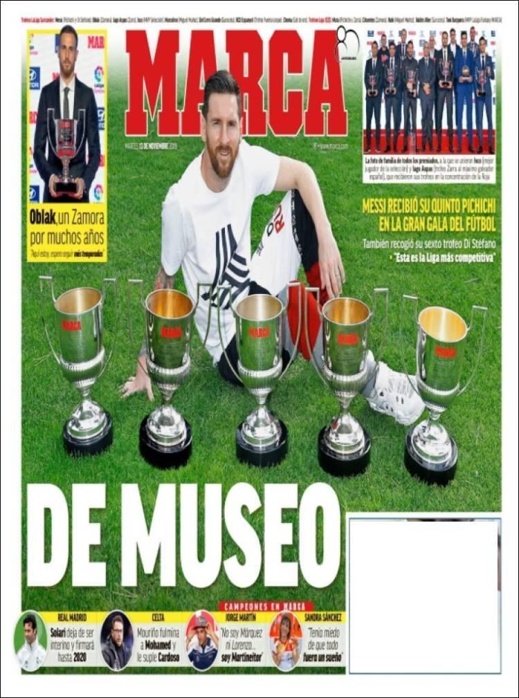 روزنامه های اسپانیا؛ سوپر مسی (عکس)