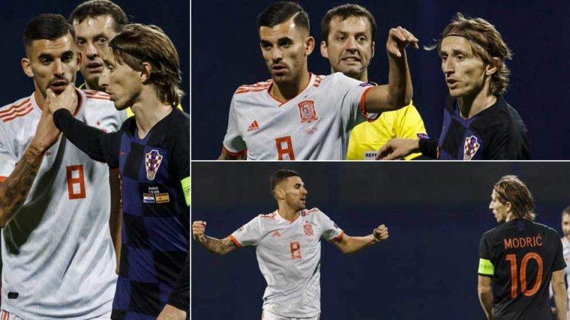 درگیری فیزیکی رئالی ها در بازی کرواسی-اسپانیا(عکس)
