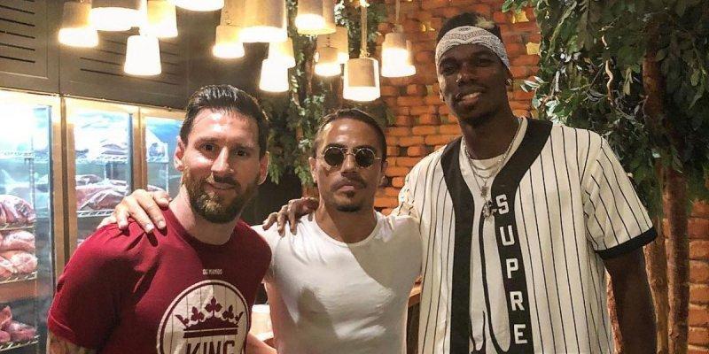 ملاقات مسی و پوگبا در رستوران مشهور دوبی (عکس)