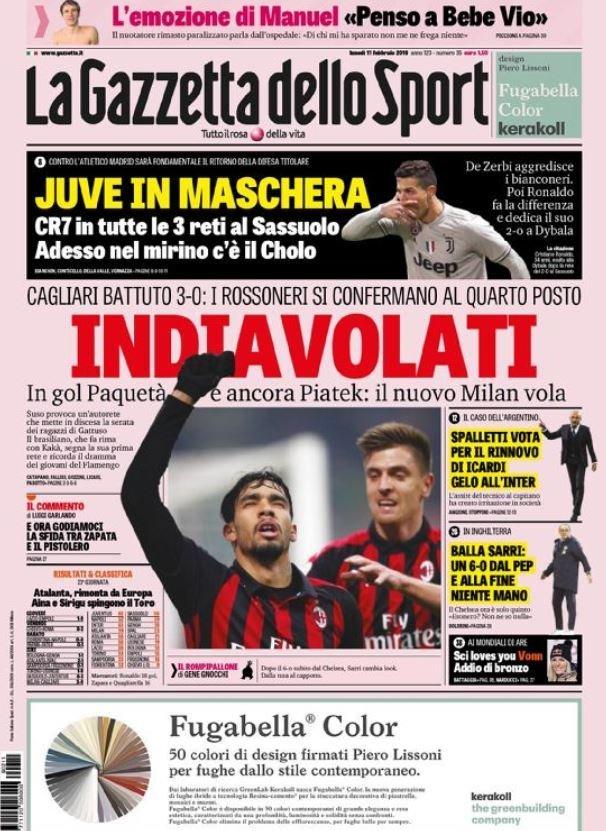 روزنامه های ایتالیا؛ بازگشت یووه با رونالدو (عکس)