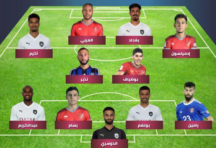 رامین رضائیان درمیان 11 بازیکن برتر قطر تیم منتخب فصل لیگ ستارگان با حضور یک ایرانی