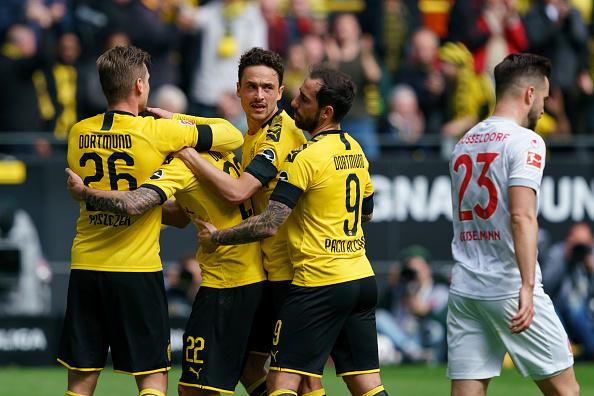 دورتموند 3 - 2 دوسلدورف؛ امید قهرمانی حفظ شد (عکس)