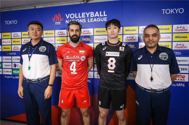 سعید معروف در بازی والیبال ایران و ژاپن