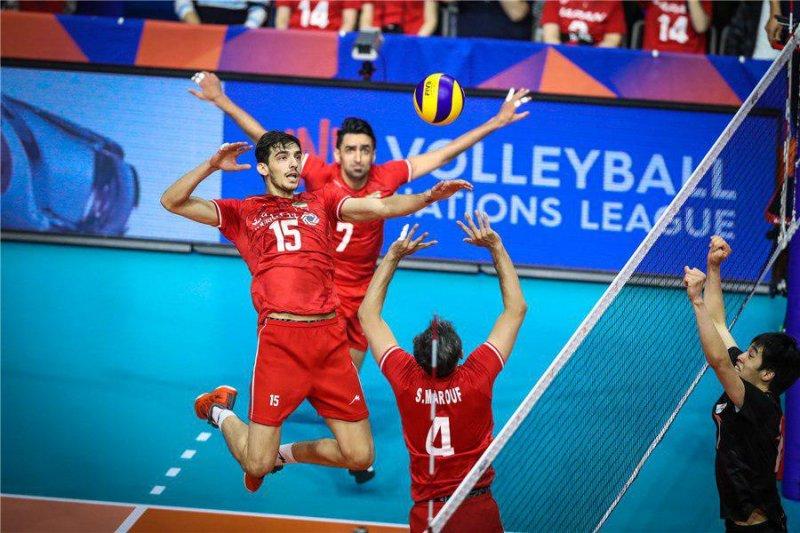 بازی والیبال ایران و ژاپن