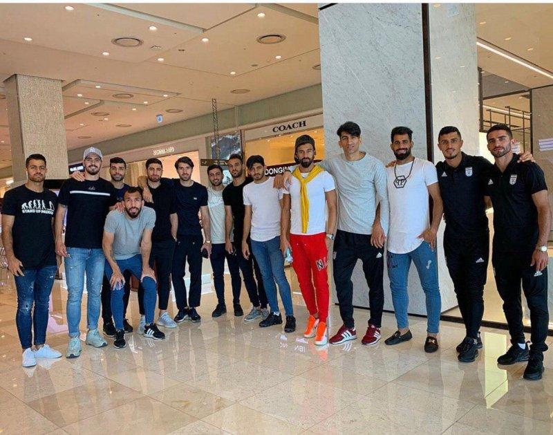 گشت و گذار بازیکنان تیم ملی در سئول