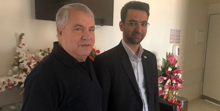 دیدار وزیر ارتباطات از علی پروین