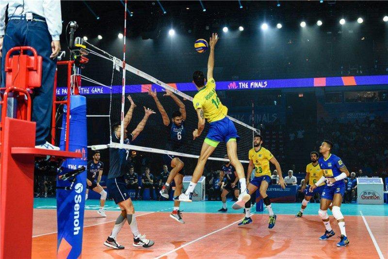 بازی والیبال ایران – برزیل در مرحله نهایی لیگ ملتهای والیبال 2019