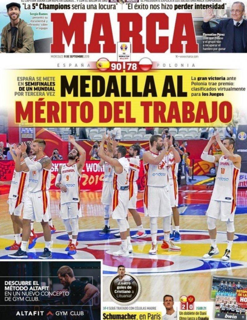 روزنامههای امروز اروپا؛ از بسکتبال اسپانیا تا فرانسه طلایی(عکس)