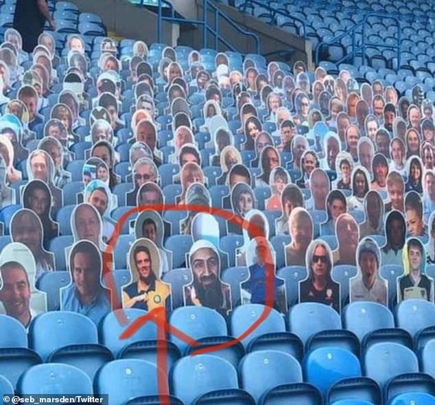 بن لادن، تماشاگر ویژه تیم انگلیسی!(عکس)