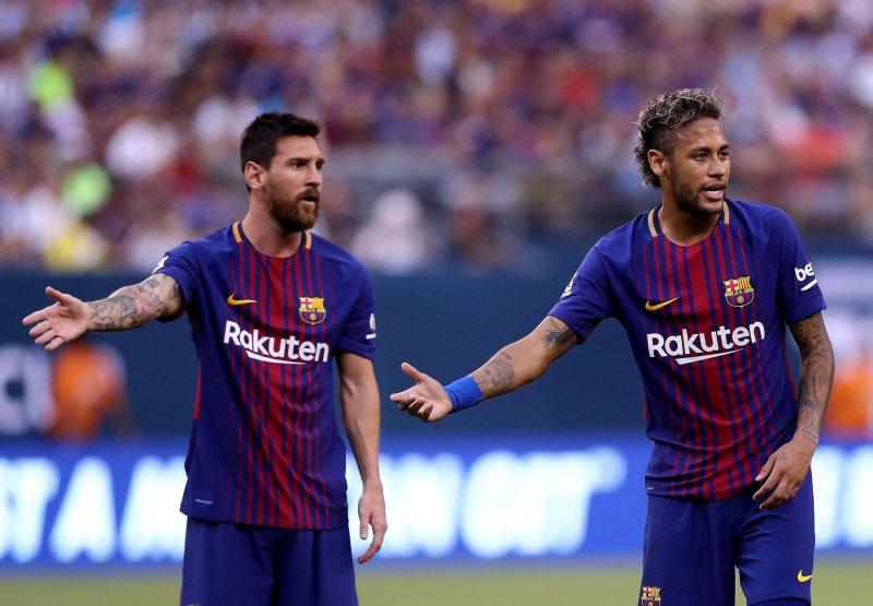 لیونل مسی و نیمار در بارسلونا