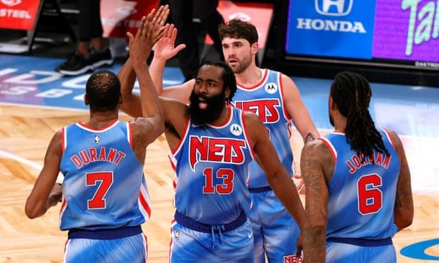 رکوردشکنی در اولین بازی هاردن برای نتز/ رکوردشکنی در NBA: تریپل دبل جیمز هاردن در نخستین بازی