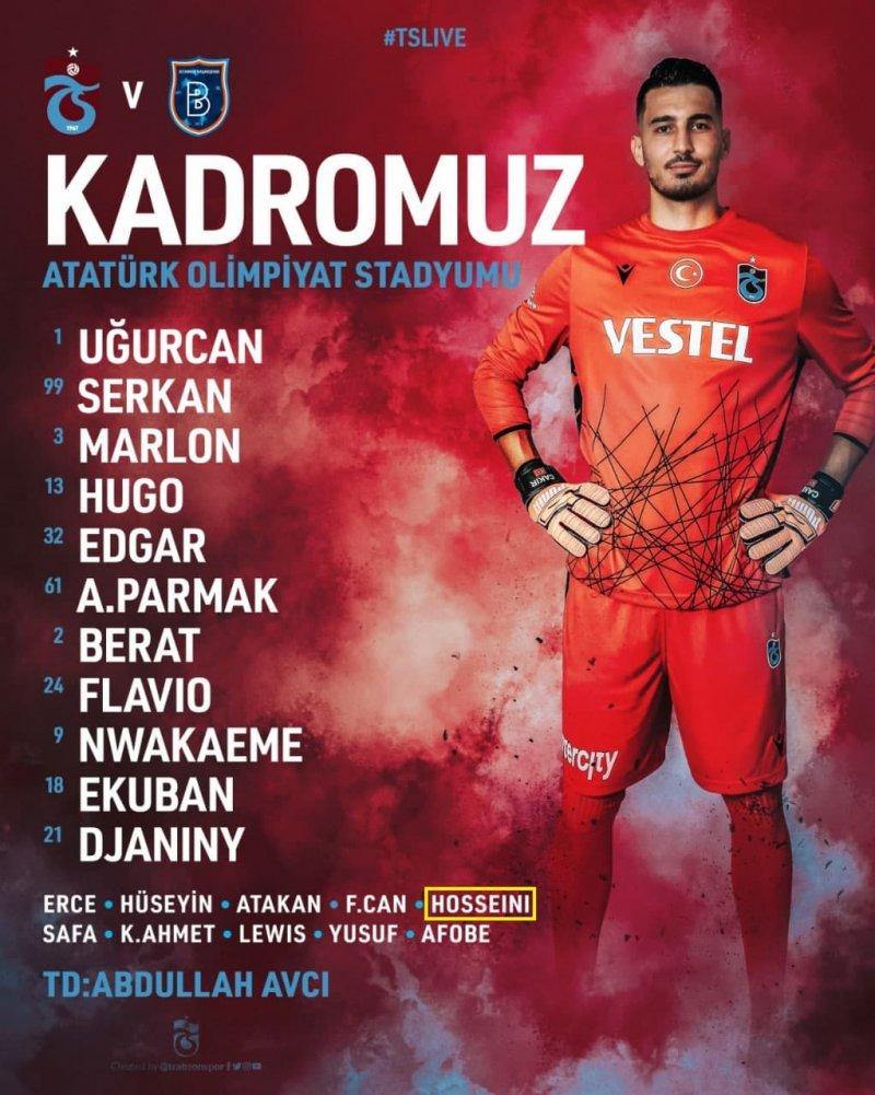 حسینی روی نیمکت در بازی سوپر کاپ ترکیه