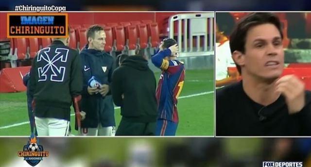 رفتار عجیب لیونل مسی پس از باخت/عکس