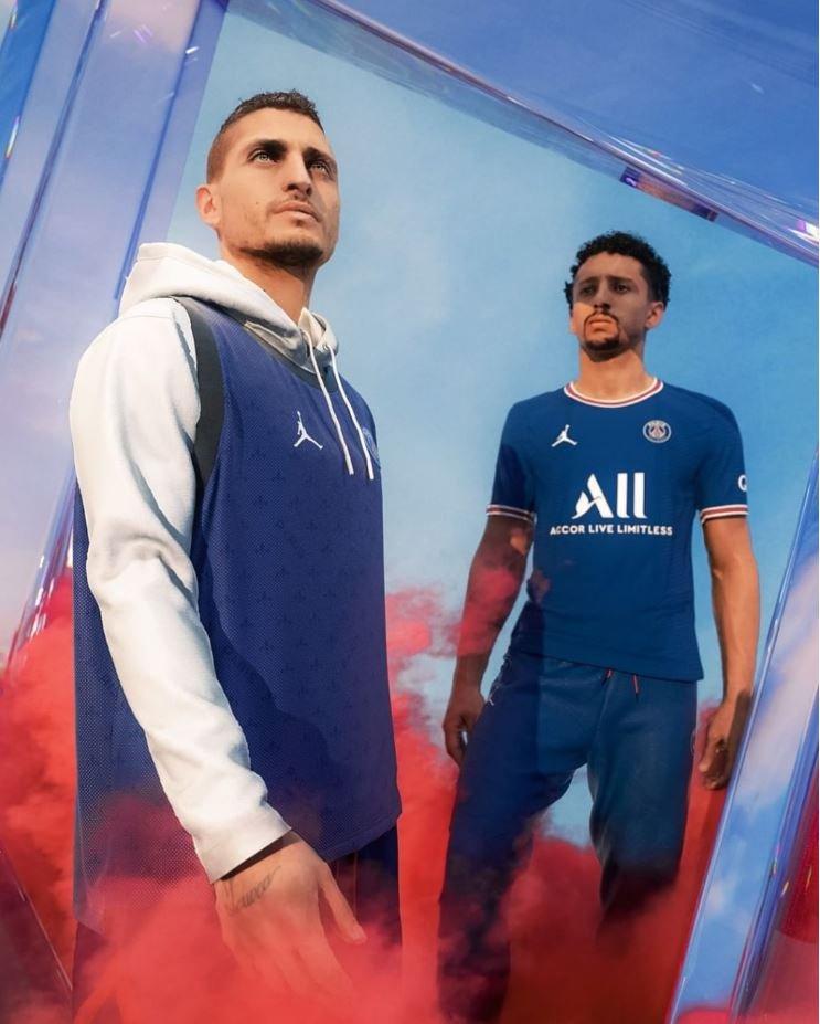 درادامه همکاری با برند جوردن؛/ رونمایی از پیراهن فصل 22-2021 PSG (عکس)