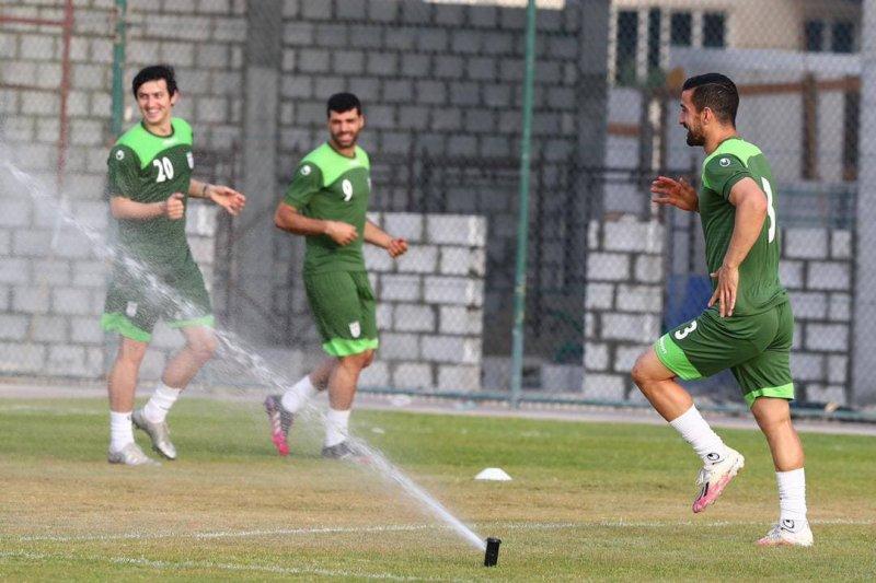 باران اختصاصی در تمرین تیم ملی (عکس)