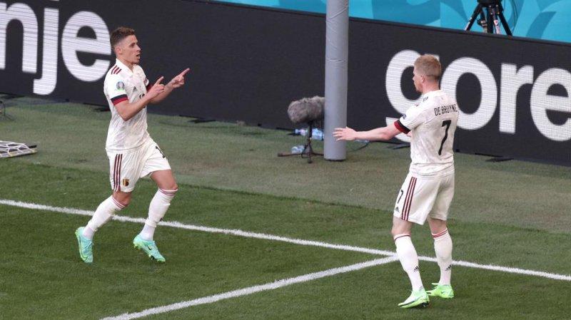دلیل شادی نکرن ستاره بلژیک پس از گلزنی مقابل دانمارک