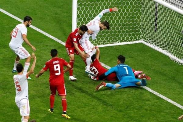 تکرار صحنه معروف ایران-اسپانیا در یورو 2020(عکس)
