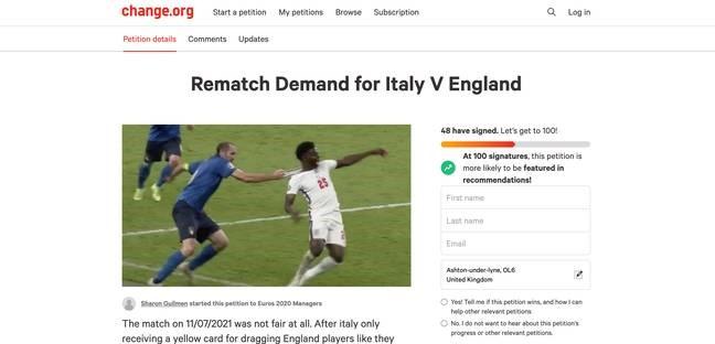 جمع آوری امضا برای تکرار فینال یورو 2020 /عکس