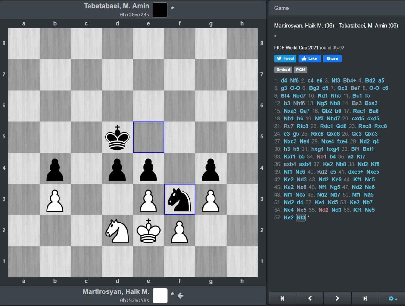 معجزه در سوچی ،کامبک طباطبایی در شطرنج (عکس)