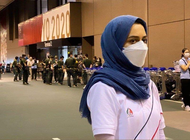 چهره خسته سریعترین دختر ایران در توکیو(عکس)