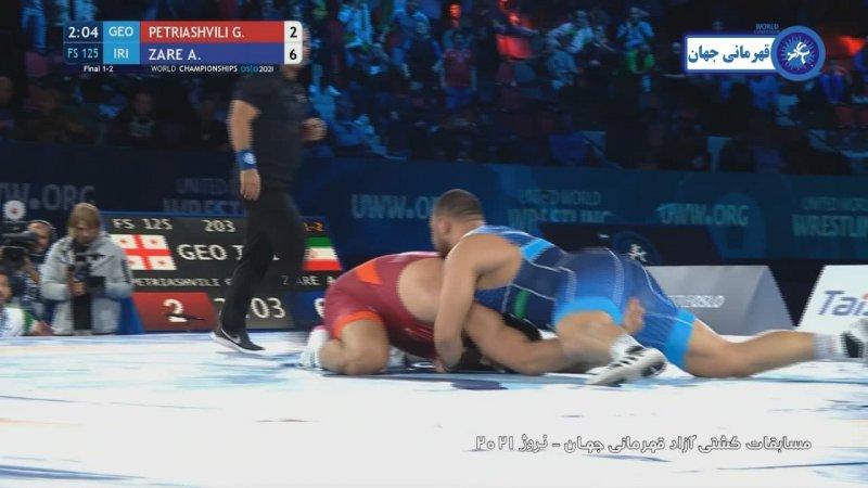 چه کرد امیرحسین زارع / امباپه کشتی ایران؛ قهرمان جهان !