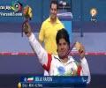 مراسم اهدای مدال طلا مجید فرزین