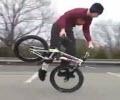 حرکات زیبا با دوچرخه