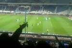 سکوهای استادیوم پس از گل ۹ ثانیه ای فرهاد به راه آهن
