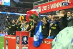 جشن قهرمانی ویگان در جام حذفی انگلیس