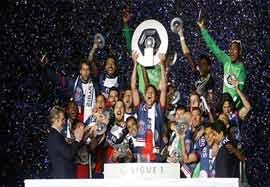جشن قهرمانی باشکوه پاریس سنت ژرمن