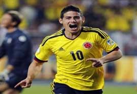 خامس رودریگز ستاره جام جهانی