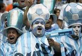 هواداران آرژانتین بعد از پیروزی در مقابل هلند