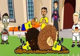 انیمیشن مراسم تدفین تیم ملی برزیل بدست آلمان