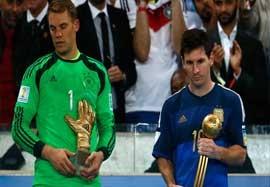مراسم اهدای توپ و دستکش طلا جام جهانی ۲۰۱۴