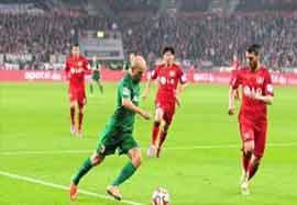 بایرلورکوزن ۱-۰ آگزبورگ (گل بازی)