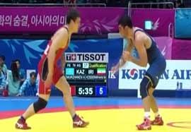 پیروزی حسینخانی مقابل نماینده قزاقستان