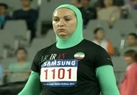 کسب مقام دوم لیلا رجبی در پرتاب وزنه