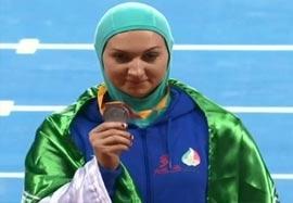 مراسم اهدای مدال نقره لیلا رجبی
