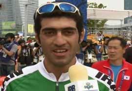 کسب مدال نقره توسط معظمی در دوچرخهسواری