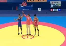پیروزی مسعود اسماعیل پور مقابل نماینده کره ای